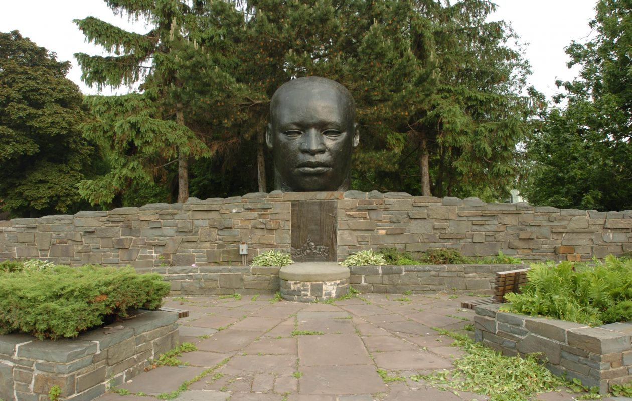The Martin Luther King, Jr. statue in Martin Luther King Park was erected 35 years ago. (Mark Mulville/News file photo)