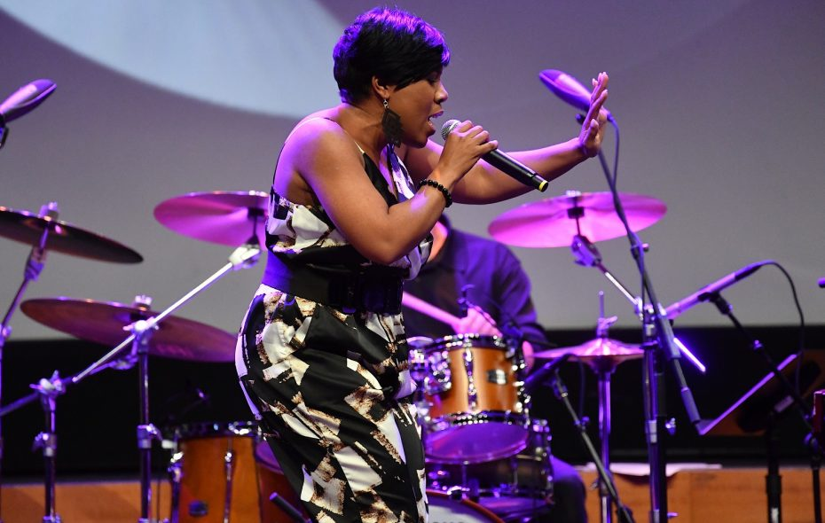 """Former """"American Idol"""" contestant Melinda Doolittle put her own spin on classic Motown songs during a BPO Pops Concert. She's pictured here during a 2017 concert in Nashville. (Getty Images)"""