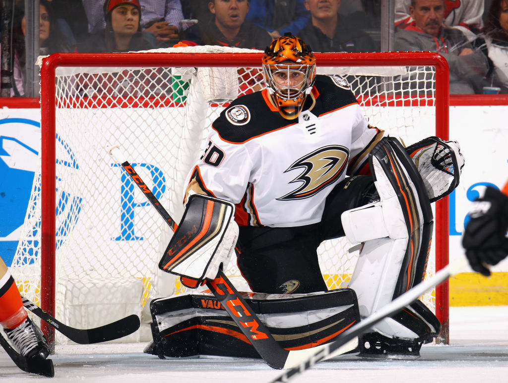 Ryan Miller is expected to get his second start of the season tonight for the Ducks against the Sabres. (Getty Images)
