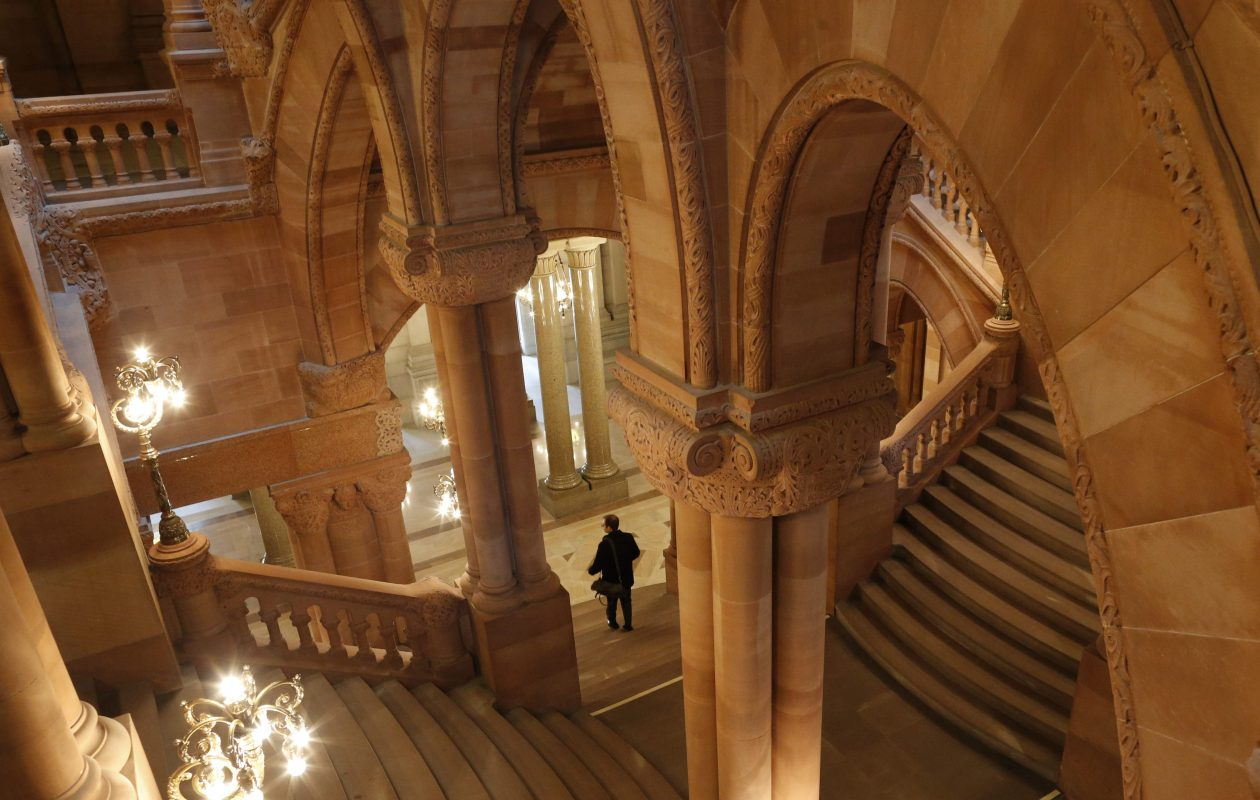 A view of the 'Million Dollar Staircase' in the New York State Capitol in Albany, Tuesday, Jan. 12, 2016.  (Derek Gee/Buffalo News)