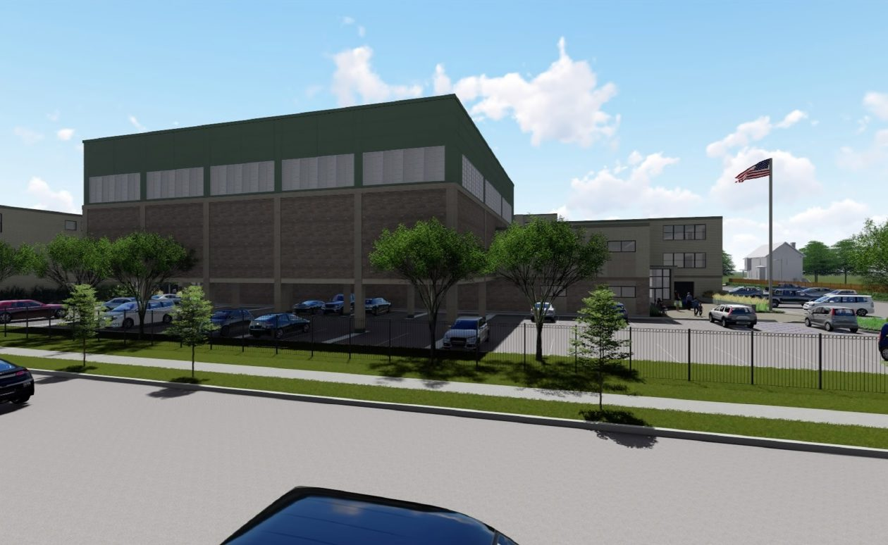 A rendering of Nardin Academy's proposed new gym and health building.