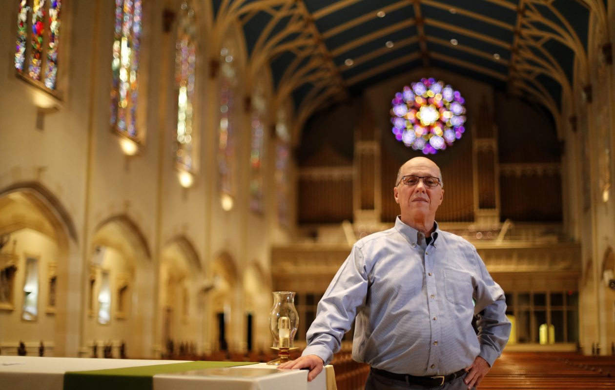 Deacon Paul C. Emerson is calling on Buffalo Diocese Bishop Richard J. Malone to resign because of his handling of clergy sexual abuse allegatioins. Emerson is a deacon at St. Joseph University Church in Buffalo. (Mark Mulville/Buffalo News)