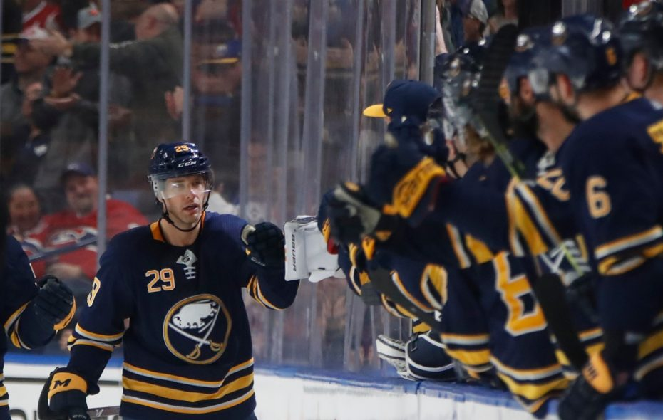 Jason Pominville is three points shy of 500 with the Sabres (Harry Scull Jr./Buffalo News).