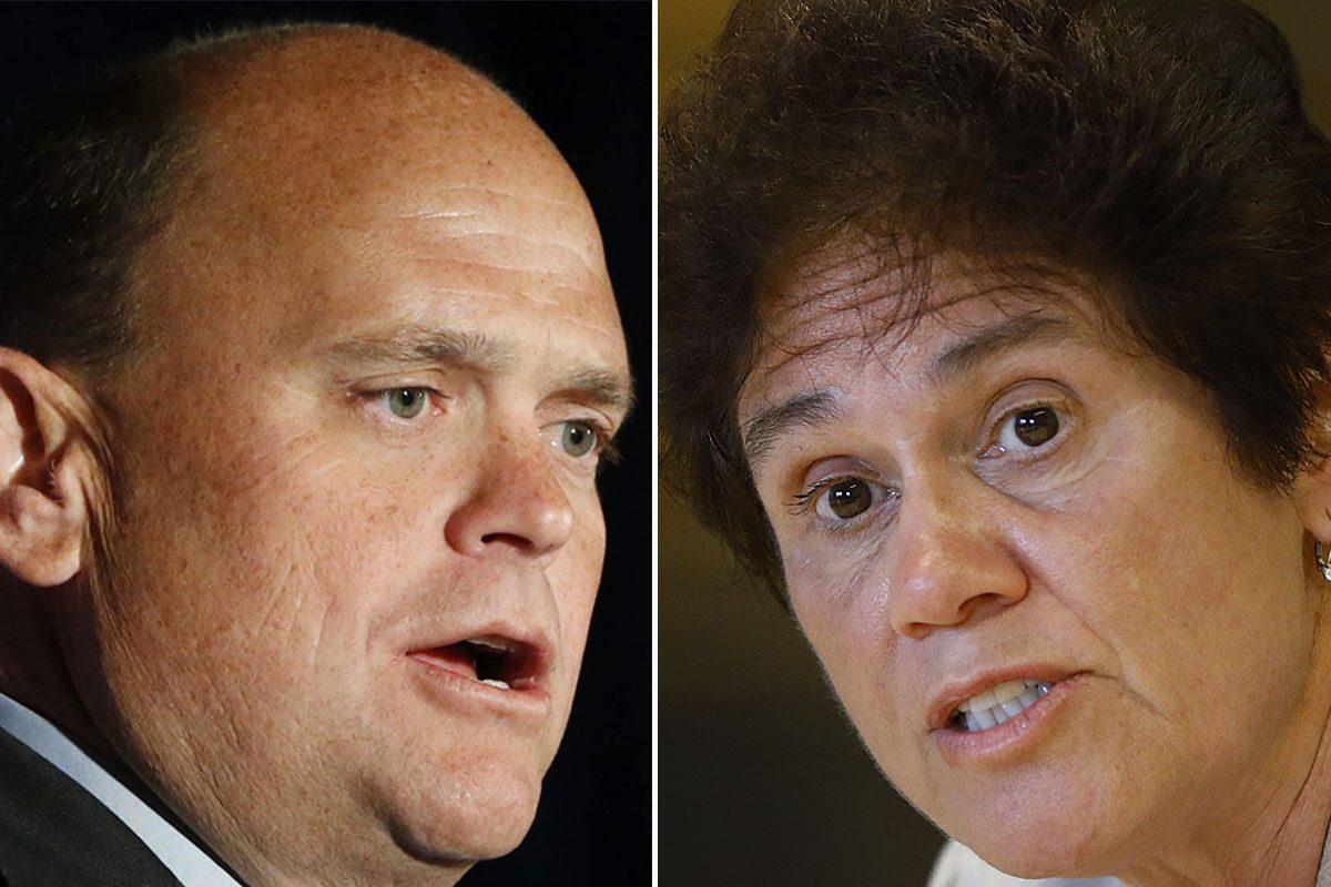 Republican Congressman Tom Reed faced a challenge from Democrat Tracy Mitrano. (Derek Gee/Buffalo News)