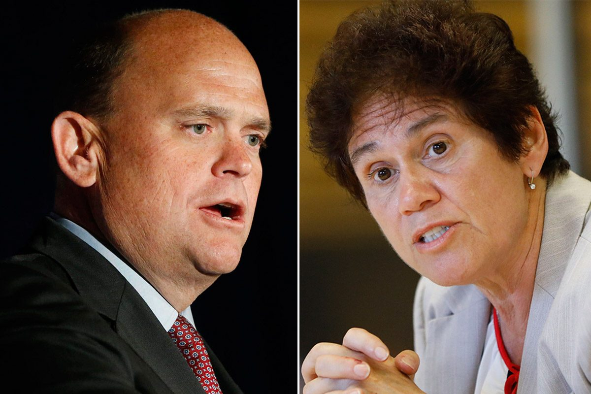 GOP incumbent Tom Reed faces a challenge from Democrat Tracy Mitrano for the sprawling 23rd District that includes Ithaca. (Derek Gee/Buffalo News)