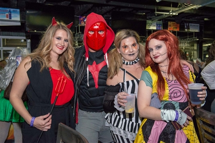 103.3. The Edge FM morning hosts Shredd & Ragan presented their annual Halloween party on Friday, Oct. 19, 2018, in Buffalo RiverWorks. Nerds Gone Wild and Last Call were the two bands to entertain. See the spooky costumes and the smiles of those in attendance.