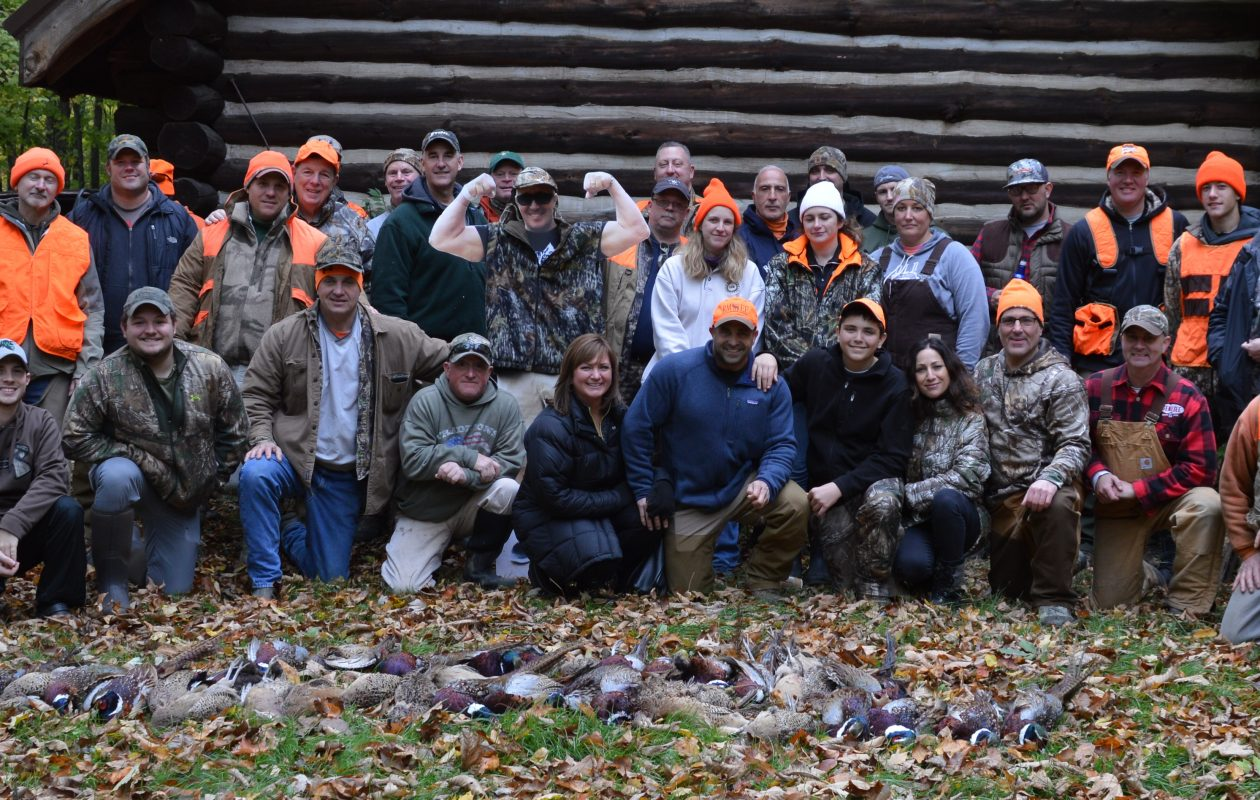 Forty-three hunters participated in the inaugural Patrick Story Memorial Pheasant Hunt on Sunday to benefit the newly formed One Story at a Time Foundation in memory of the Clarence resident. (Bill Hilts Jr./Buffalo News)