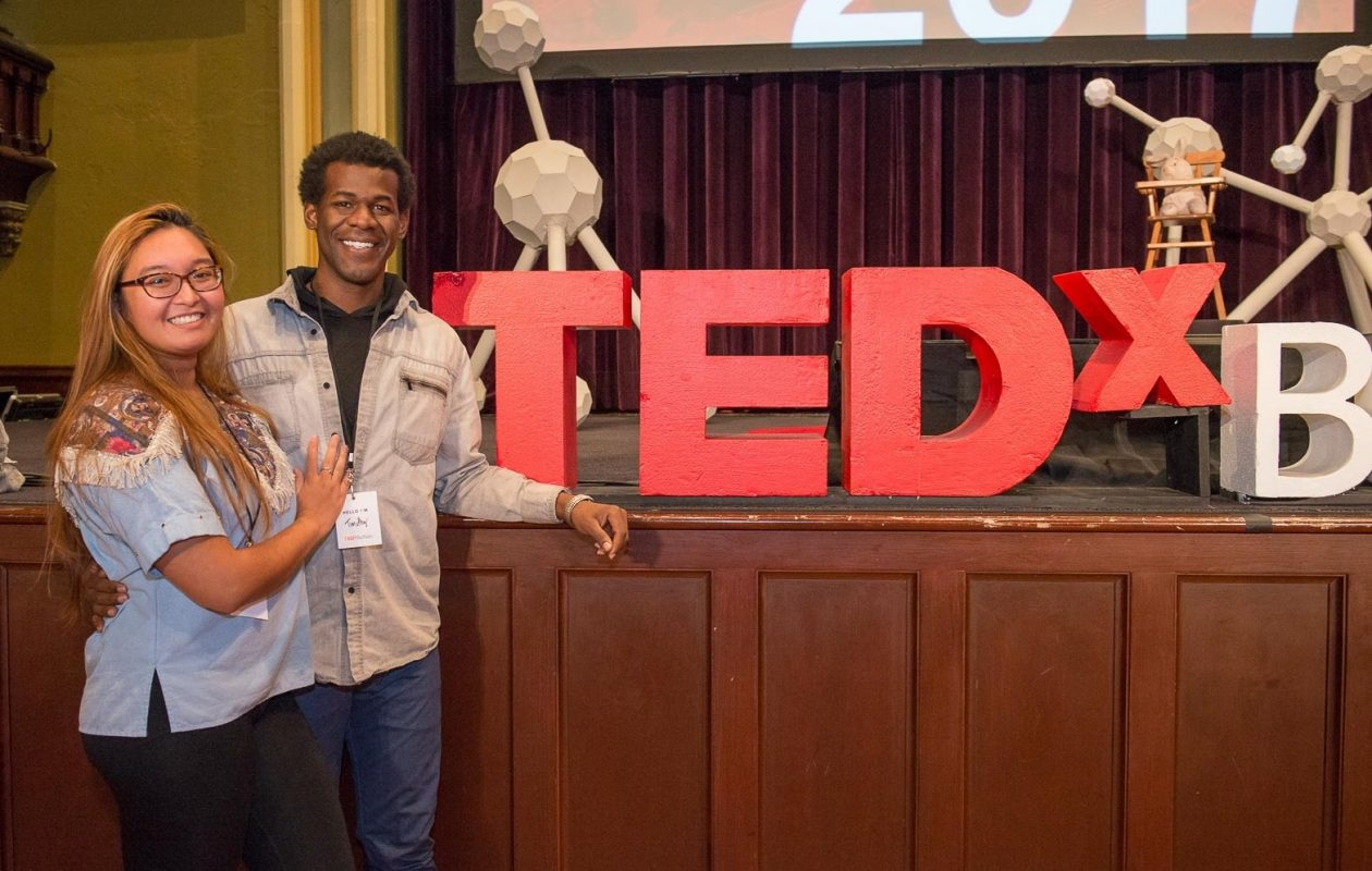 Smiling faces of participants at TEDxBuffalo 2017, held at Babeville. The event returns Thursday. (Matt Weinberg/Special to The News)
