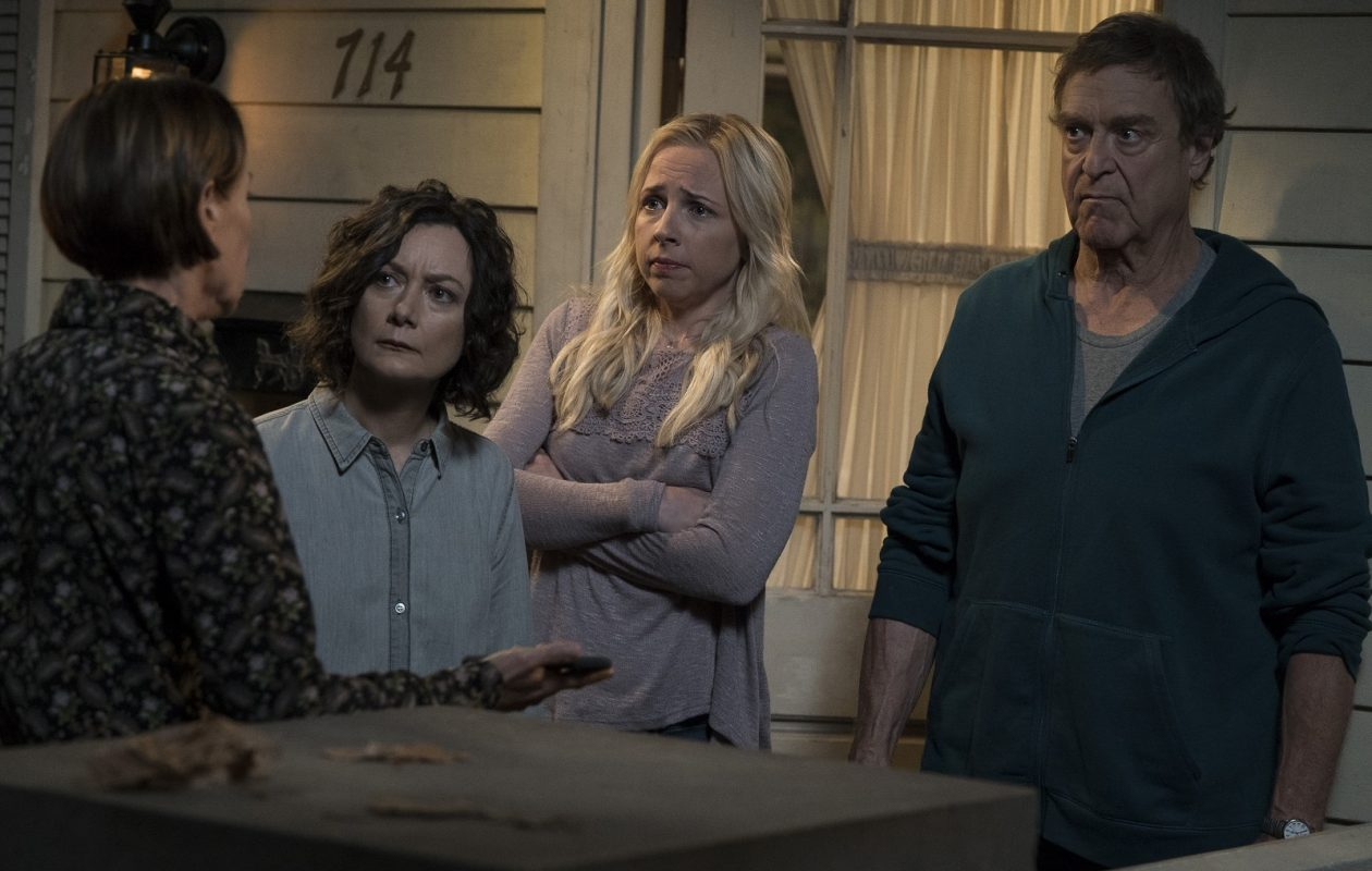 Laurie Metcalf, Sara Gilbert, Lecy Goranson and John Goodman in the ABC series, 'The Conners.' (Eric McCandless/ABC)
