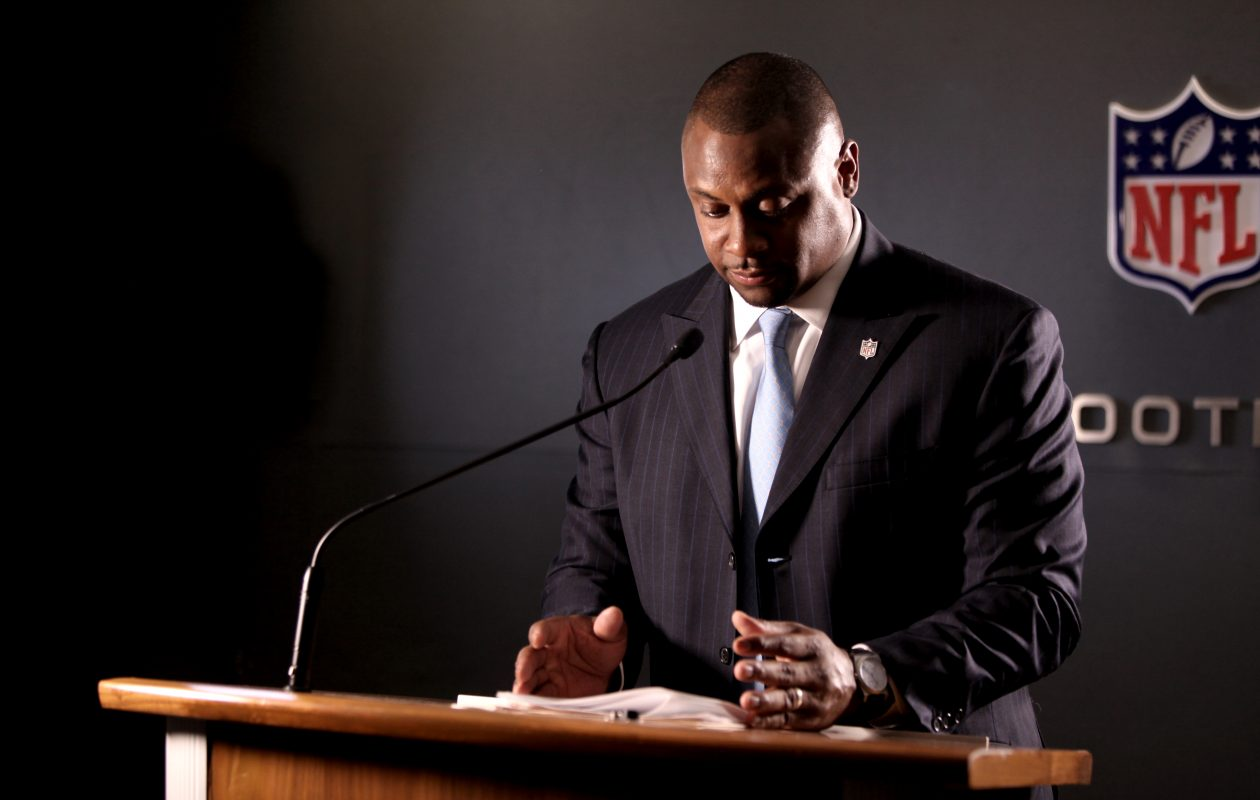 Troy Vincent, an NFL executive vice president and former Buffalo Bill, is a leading advocate for prevention of domestic abuse and sexual assault. (Photo courtesy of Troy Vincent)