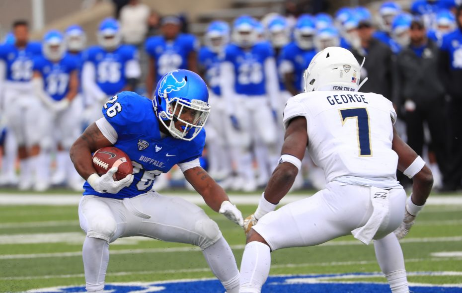 UB running back Jaret Patterson ran for 1,013 yards and 14 touchdowns as a freshman in 2018. (Sharon Cantillon/News file photo)