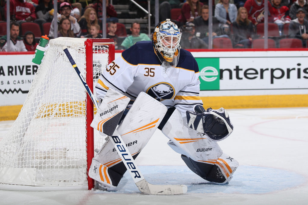 Linus Ullmark won both of his starts on the Sabres' road trip. (Getty Images)