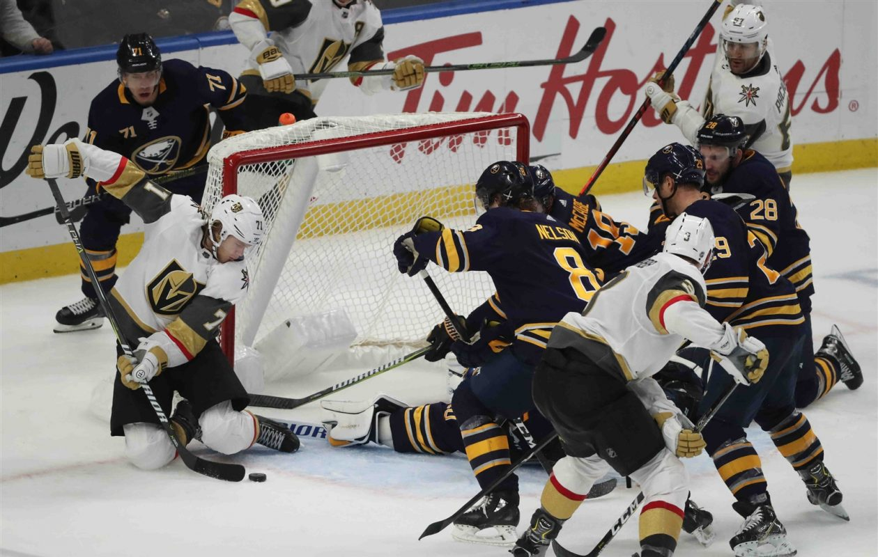 e38c1e905f5 Sweep of Vegas would be another sign of Sabres' improving fortunes – The  Buffalo News
