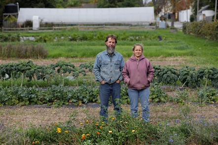 Urban farming pioneers Mark and Janice Stevens have grown a vacant lot of land into the Wilson Street Farm over the last 10 years.