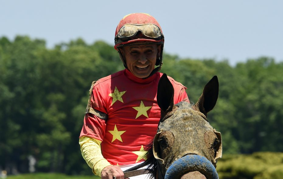 Mike Smith will ride Abel Tasman in the Breeders' Cup Distaff  Photo Credit: Susie Raisher/NYRA
