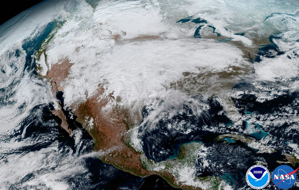North America satellite image.