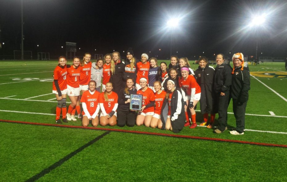 Amherst girls soccer is happy as can be after winning the overall Section VI Class A title on Tuesday night.