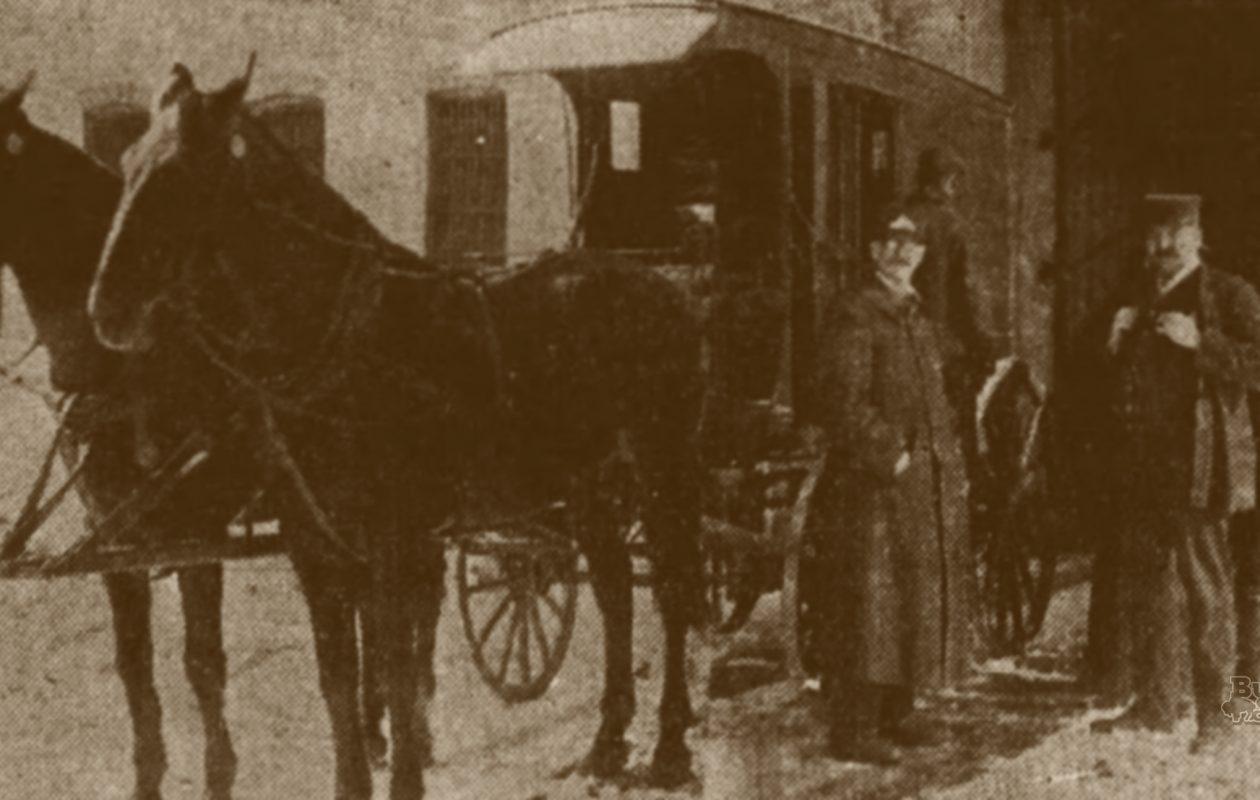Buffalo's Black Maria, the  city police's drunk wagon, 1905.