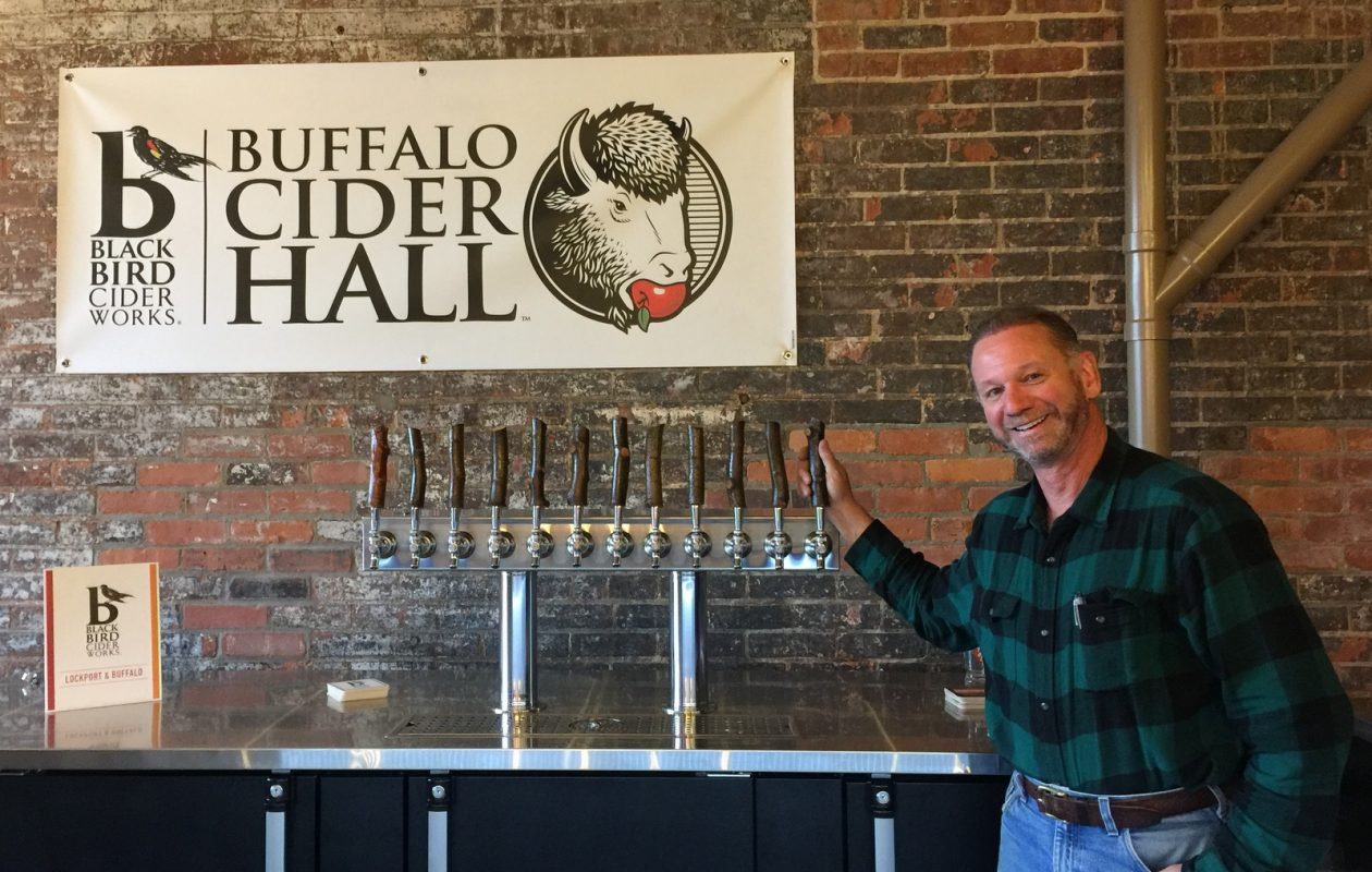 Owner Scott Donovan added touches like the apple branch taps at Buffalo Cider Works. (Andrew Galarneau/Buffalo News)
