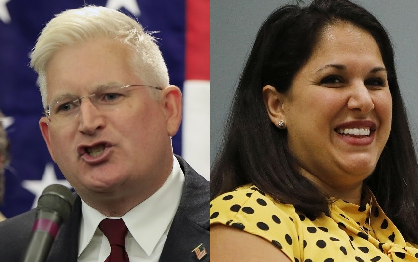 Republican-endorsed Democrat Mickey Kearns, who has served as Erie County Clerk for one year, overcame a challenge from Democrat Angela Marinucci. (News file photos)