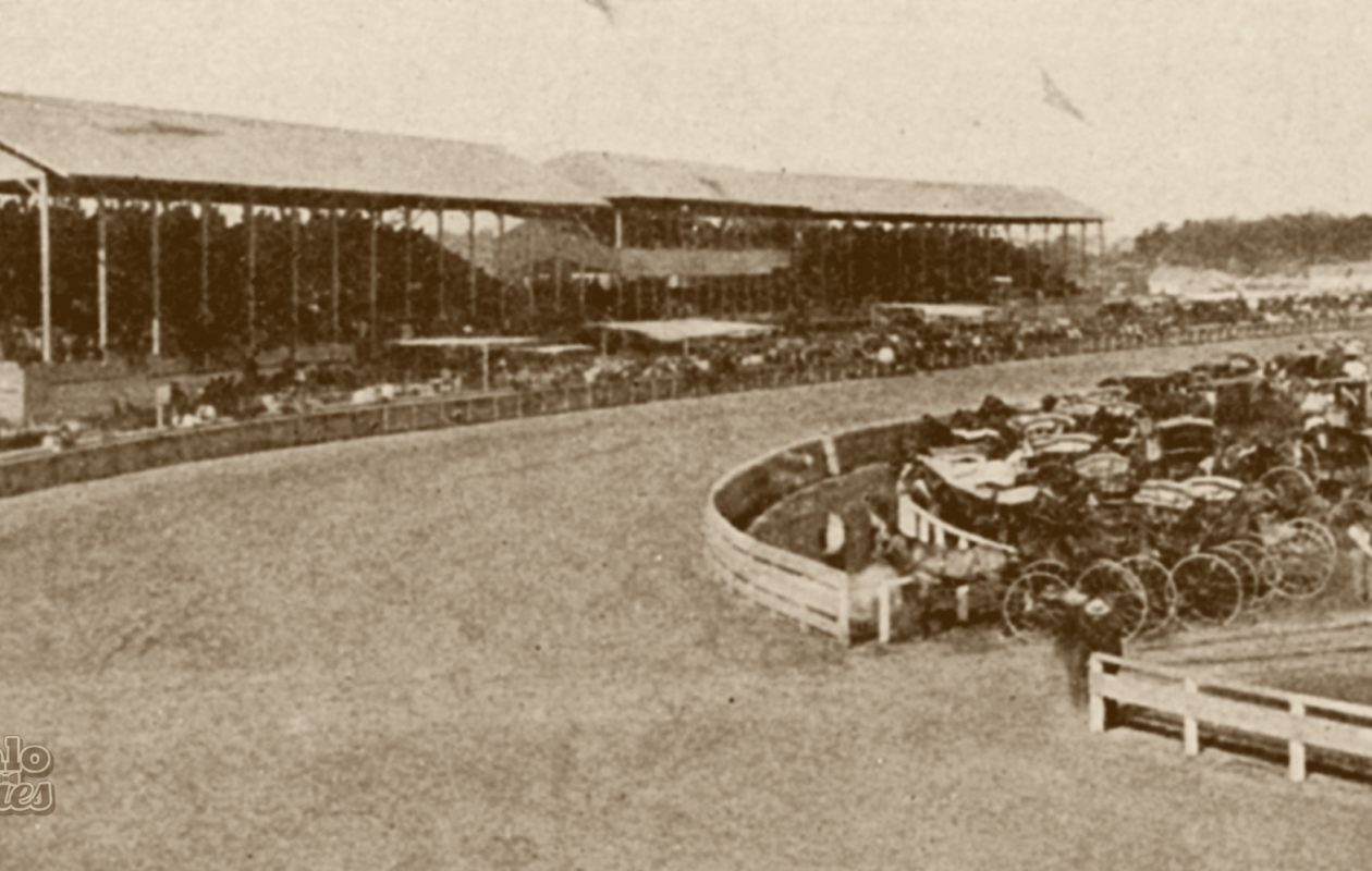 The Buffalo Driving Park, pictured circa 1870, in what is now the Hamlin Park neighborhood.
