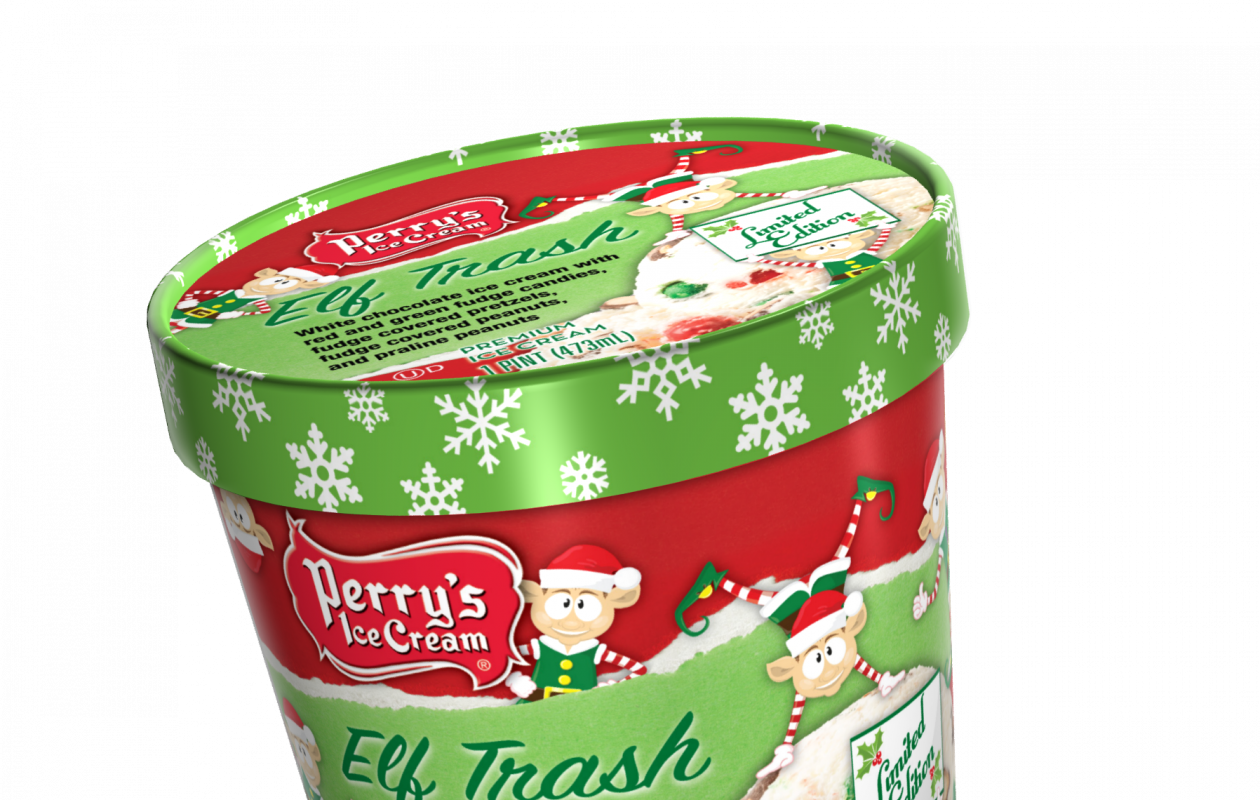Among Perry's seasonal flavors: Hot Cocoa, Pumpkin Pie and... Elf Trash?