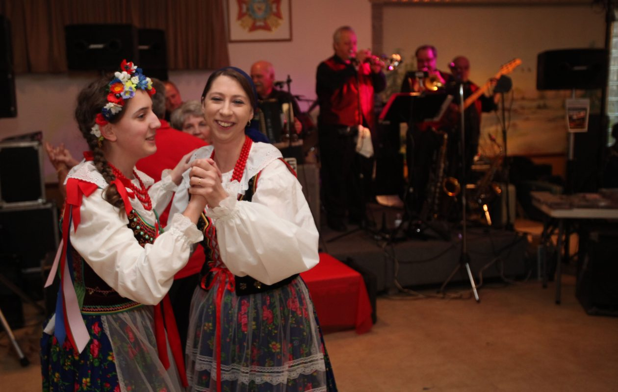 The festivities will include performances by the Polish Harmony Folk Ensemble. Pictured are Autumn Spina, left, and Manya Pawlak-Metzler. (News file photo)