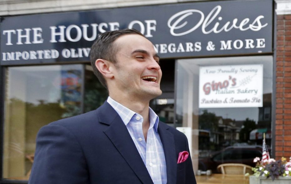 Tommy Lombardo Jr., pictured in 2015 on Hertel Avenue, has announced more details plans in regard to his new wine bar. (Robert Kirkham/News file photo)