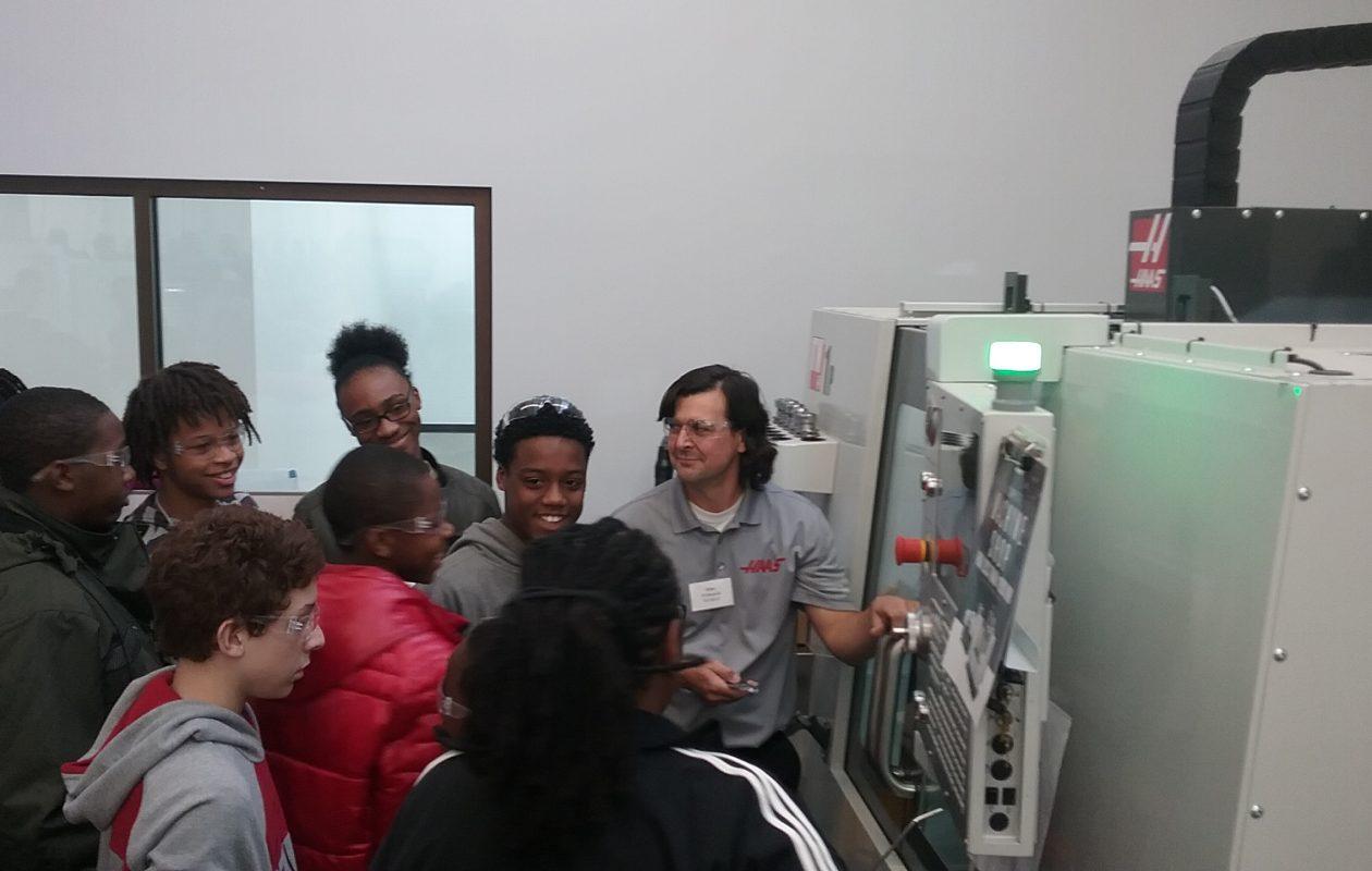 Manufacturing Day gave students a look at modern manufacturing equipment. (Matt Glynn/Buffalo News)