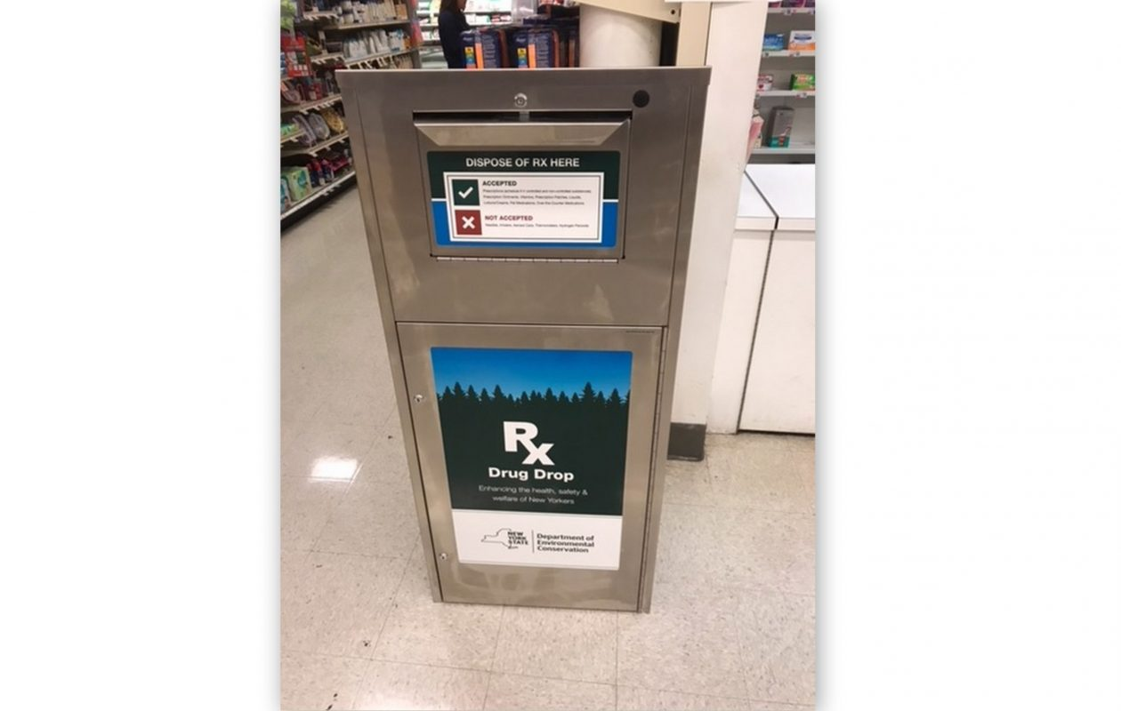 The drug disposal boxes are located in the stores' pharmacy departments. (Contributed photo)