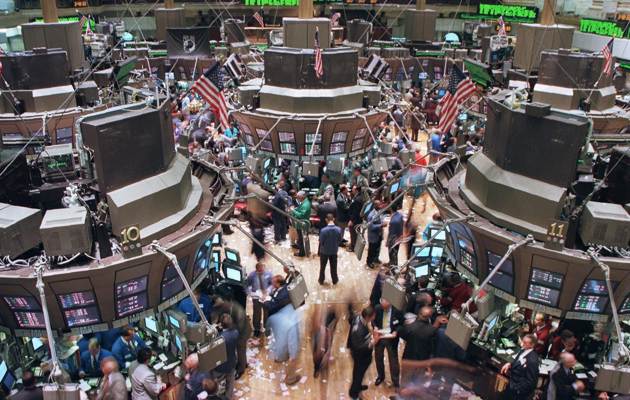The floor of the New York Stock Exchange. (Jon Levy/AFP/Getty Images)