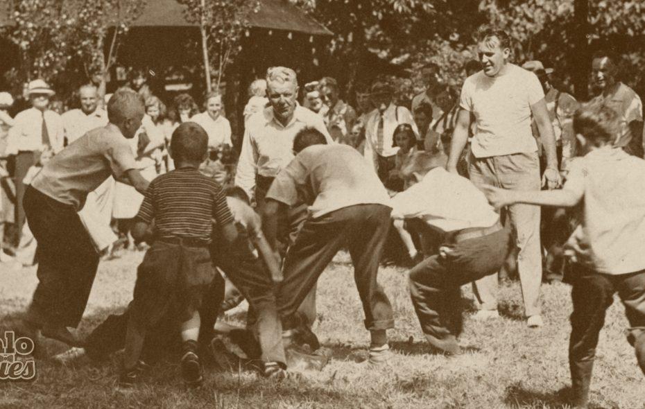 Scene at Liberty Park, 1955.