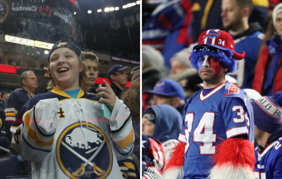 Bills fans may be hurting, but the Sabres are showing real progress this season. (Sharon Cantillon and James P. McCoy/Buffalo News)