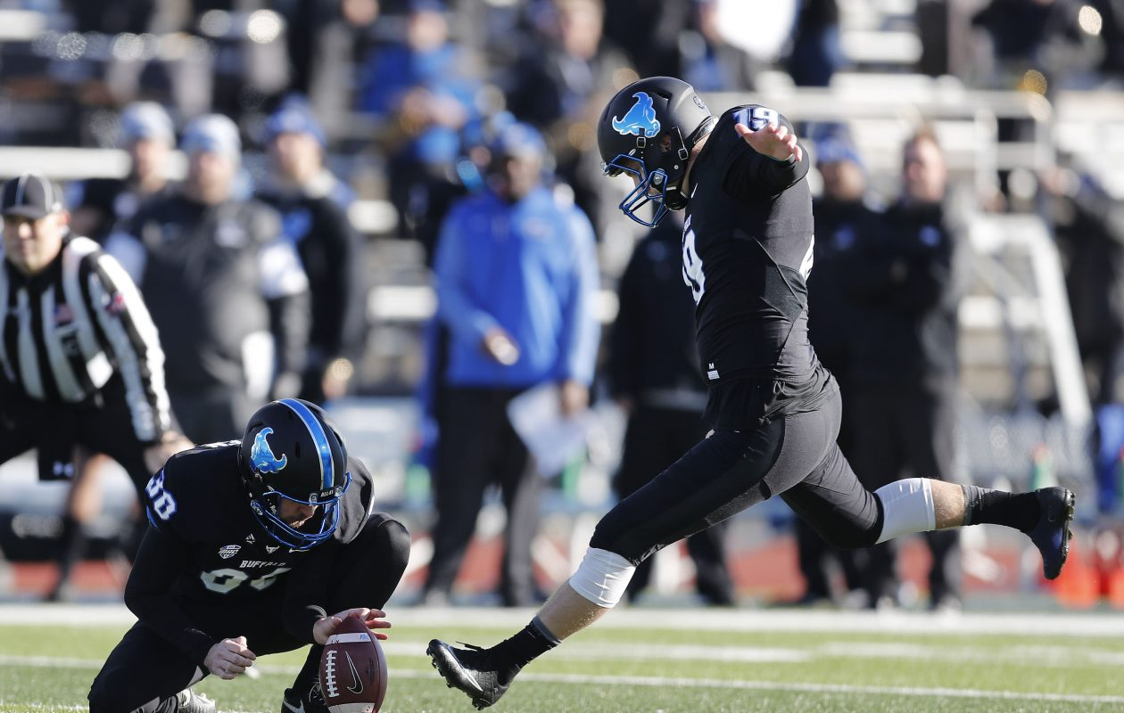 University at Buffalo kicker Adam Mitcheson is the program's leader in field goals (45) and its all-time leading scorer with 268 points. (Mark Mulville/News file photo)