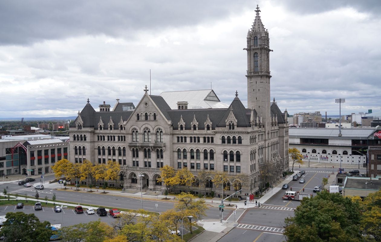 A skyline landmark: the downtown campus of Erie Community College could have been lost if not for some relentless champions. (Derek Gee/Buffalo News)