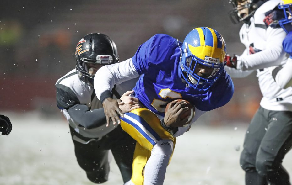 Cleveland Hill running back Javon Thomas runs for a touchdown against Letchworth-Warsaw during last week's Far West Regional contest at Clarence. (Harry Scull Jr./Buffalo News)