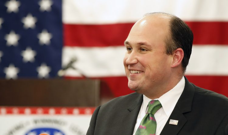Nick Langworthy, Erie County's Republican chairman, is working to win support for his challenge to incumbent Ed Cox for the state GOP chairmanship. (Harry Scull Jr./Buffalo News)