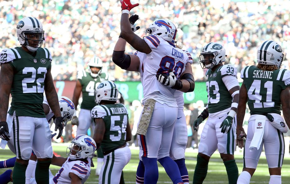 Young players such as Jason Croom contributed to the Bills' big win Sunday. (James P. McCoy/News file photo)