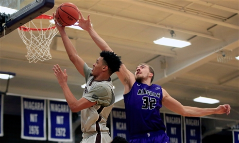 Niagara scored its last nine points at the free-throw line to nail down an 80-72 victory over Big 4 rival St. Bonaventure on Monday, Nov. 12, 2018, at the Gallagher Center.