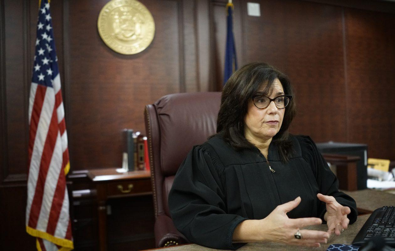Family Court Judge Brenda Freedman on the bench. (Derek Gee/Buffalo News)