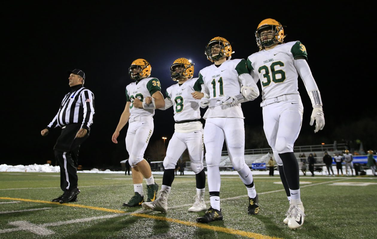West Seneca East is one win away from its first state title in football. (Harry Scull Jr./News file photo)