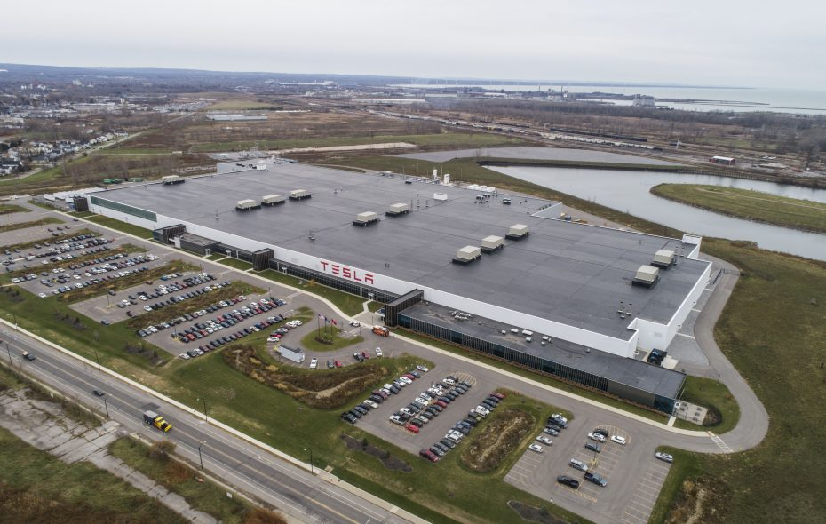 The Tesla factory at RiverBend. (Derek Gee/News file photo)