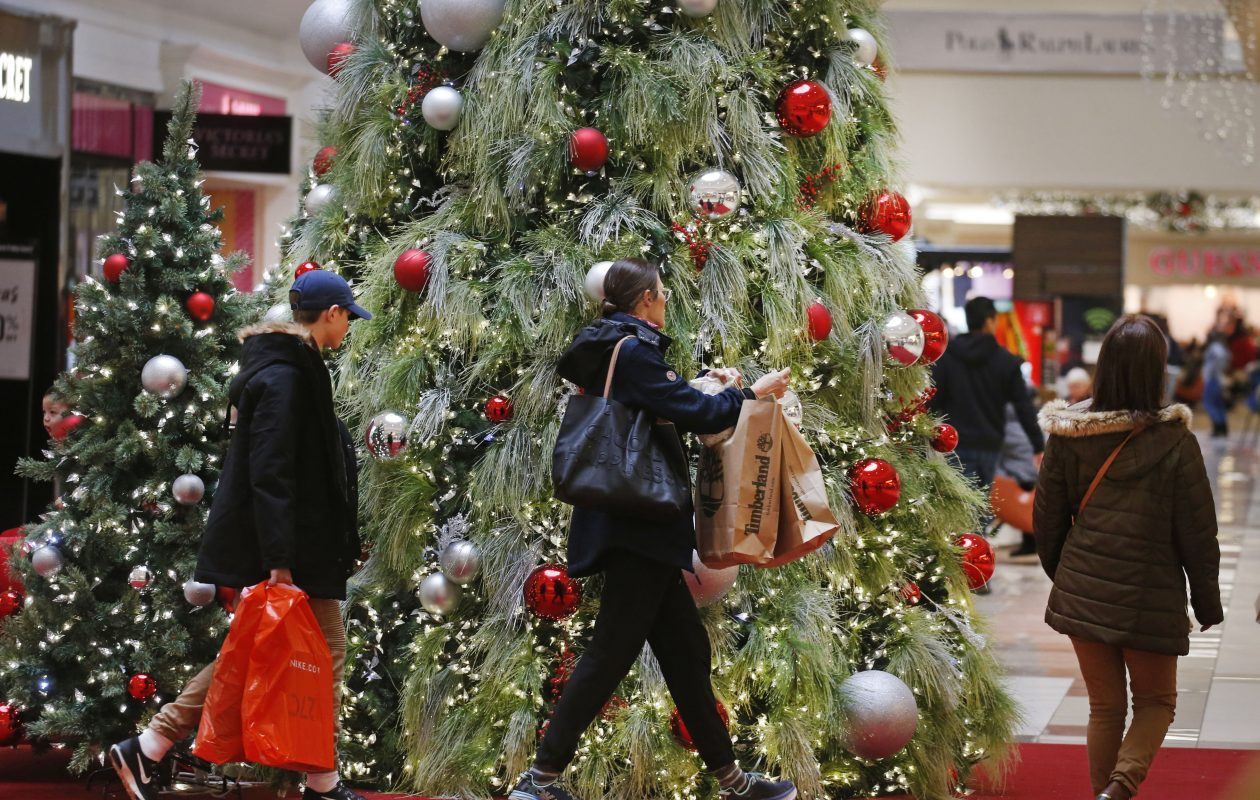 The action was swift as holiday shoppers got out ahead of the Black Friday crowds at the Niagara Falls Fashion Outlets in Niagara Falls on Sunday, Nov. 18, 2018. (Robert Kirkham/Buffalo News)