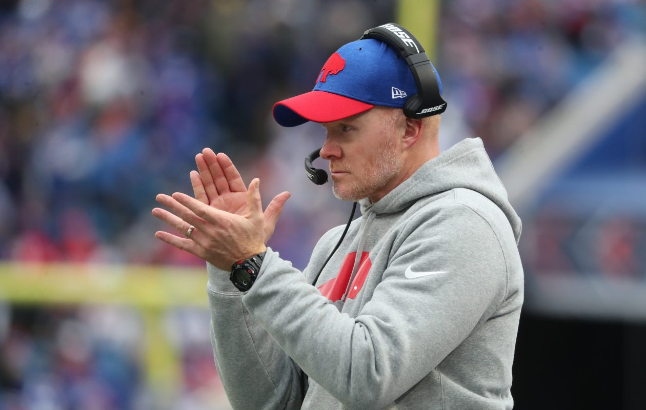 Bills head coach Sean McDermott has his team on a two-game winning streak. (James P. McCoy/Buffalo News)