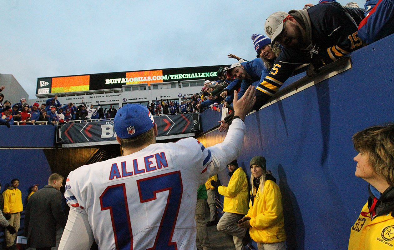 Josh Allen had nothing but good things to say about Bills fans at a recent fan event. (James P. McCoy/News file photo)