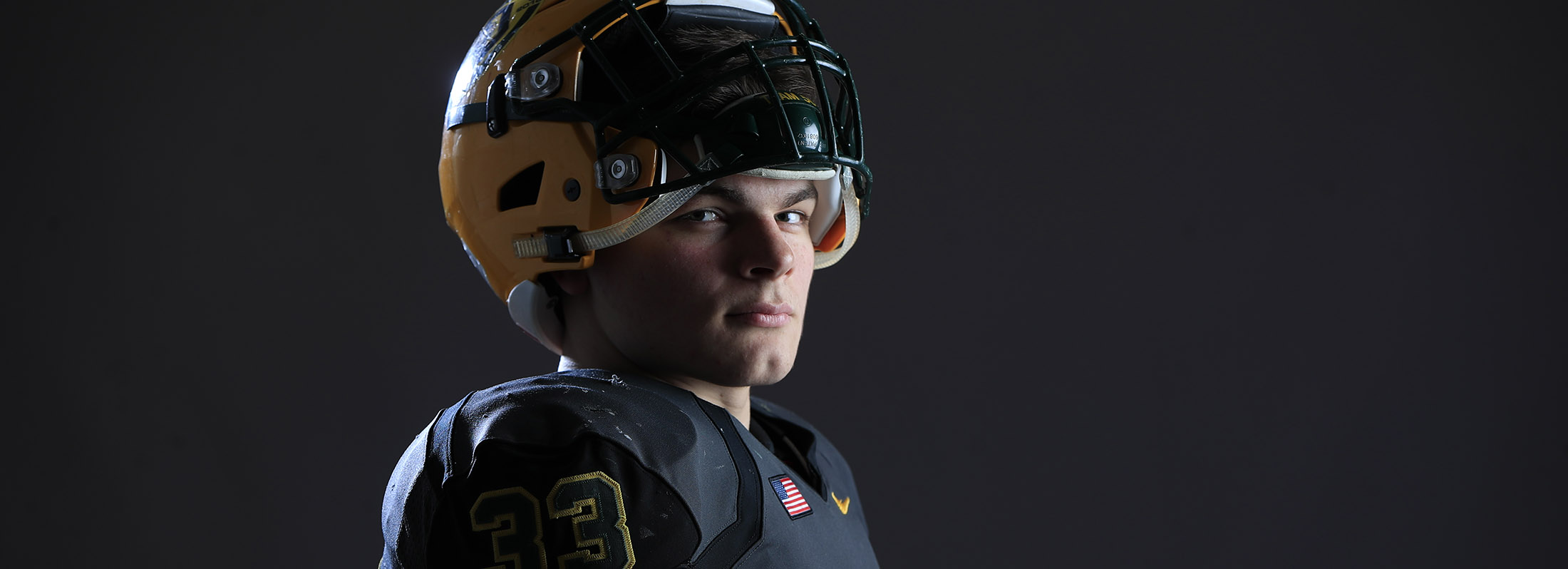Shaun Dolac of West Seneca East is the News' Football Player of the Year (Harry Scull Jr./Buffalo News)