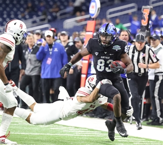 The UB Bulls face the Northern Illinois Huskies in the MAC championship game on Friday, Nov. 30, 2018.