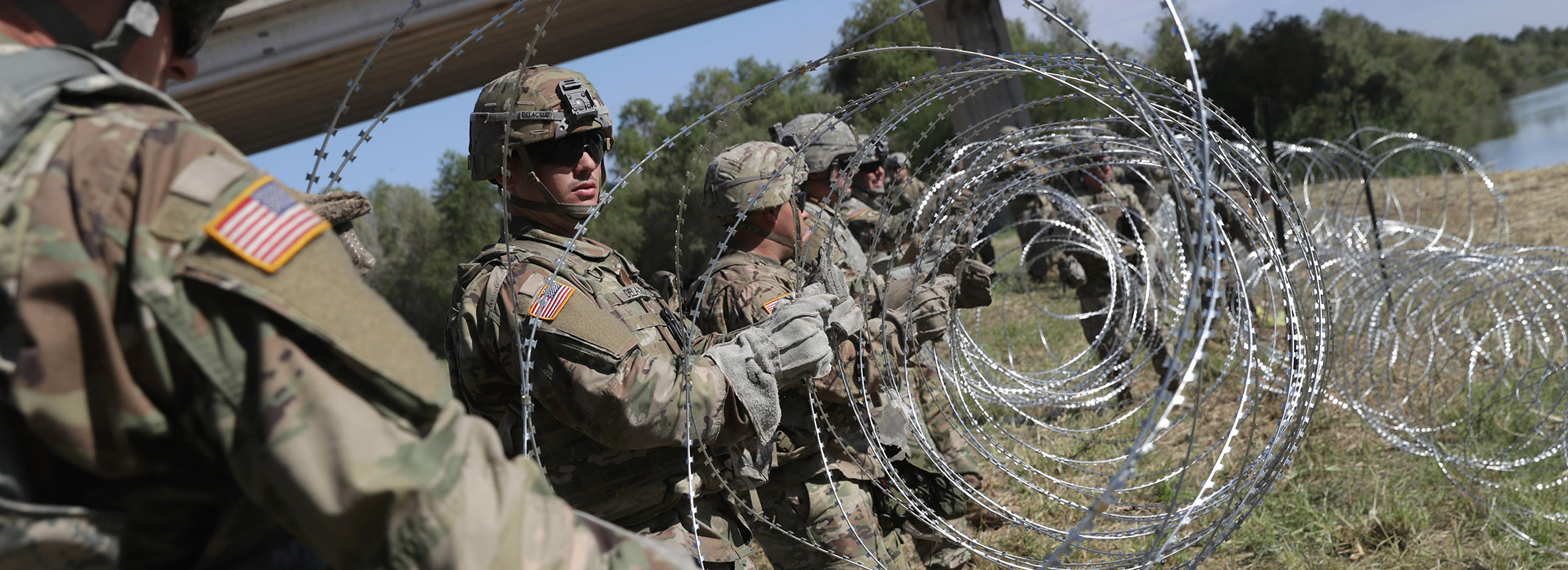 "After spending somewhere between $42 million and $110 million to keep the southern border ""secure,"" we're bringing those troops home, raising an uncomfortable question. (John Moore/Getty Images file photo)"
