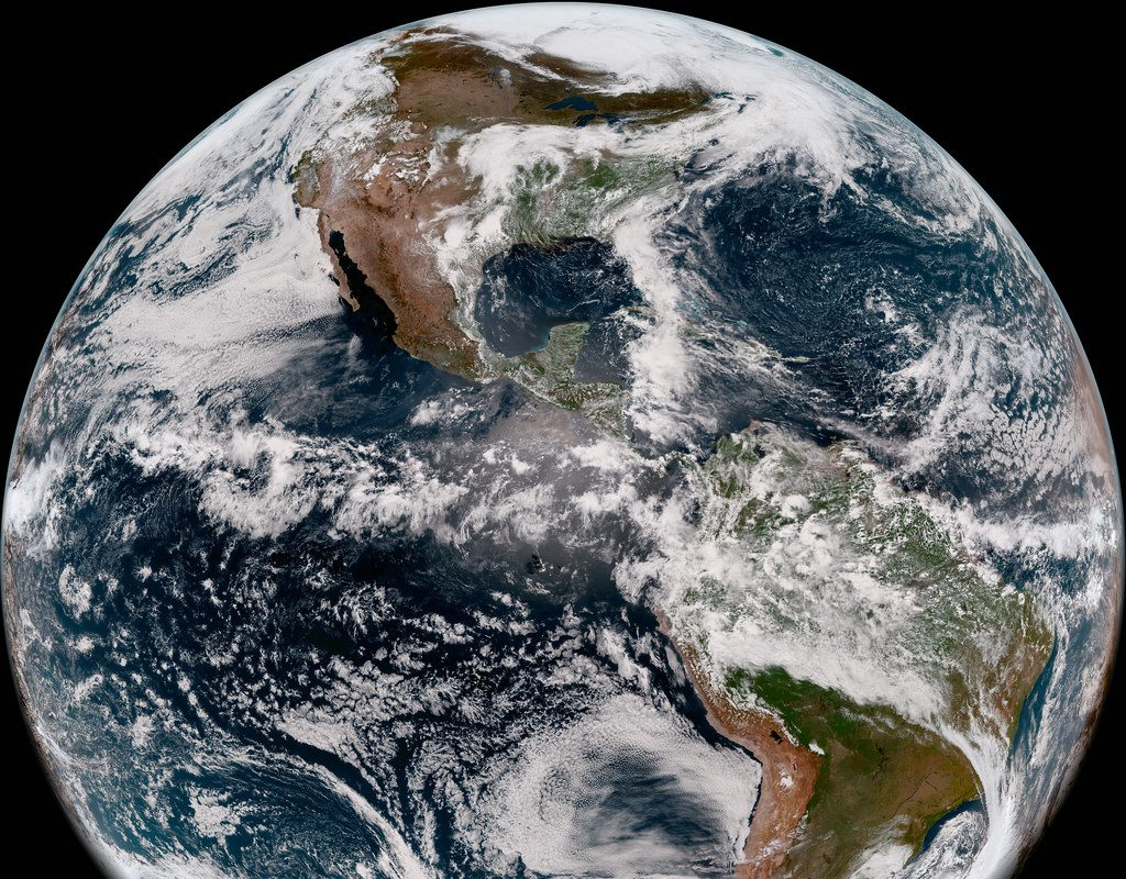 Geostationary satellites supply  increasingly sophisticated and multi-layered imagery and data, which also brings the gift of spectacular beauty as a side benefit. But polar orbiting satellites offer greater clarity, more data and higher resolution. (NOAA Image)