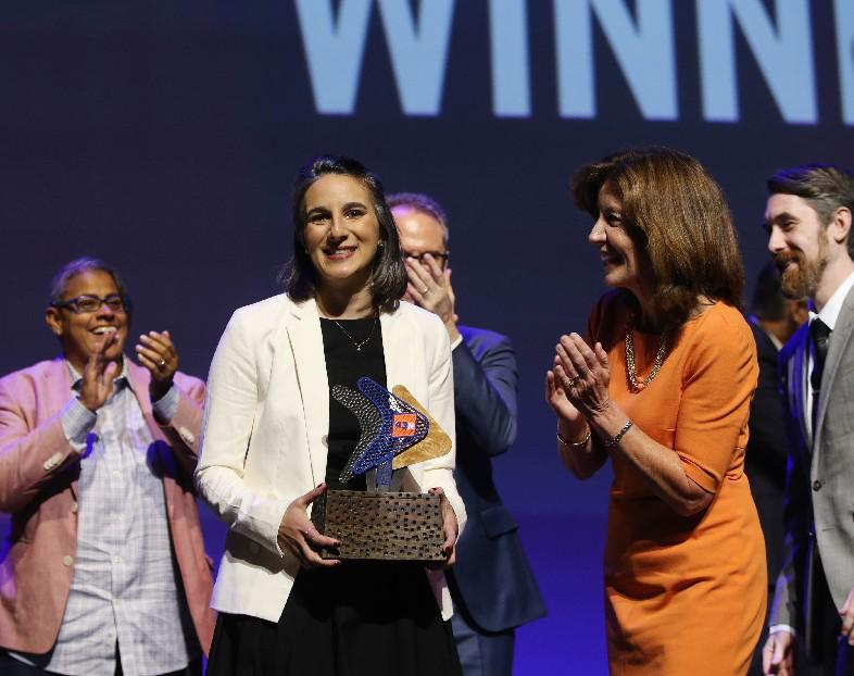Bethany Deshpande's company, SomaDetect, won the grand prize at 43North in 2017. (News file photo)